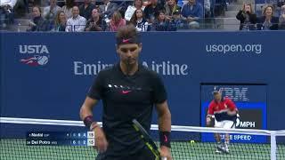 UsOpen 2017 semifinals Rafael Nadal vs Juan Martin Del Potro highlights