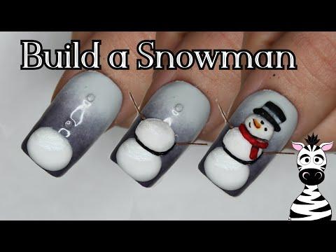 4D Buildable Snowman Acrylic Nail Art Tutorial | Madam Glam thumbnail
