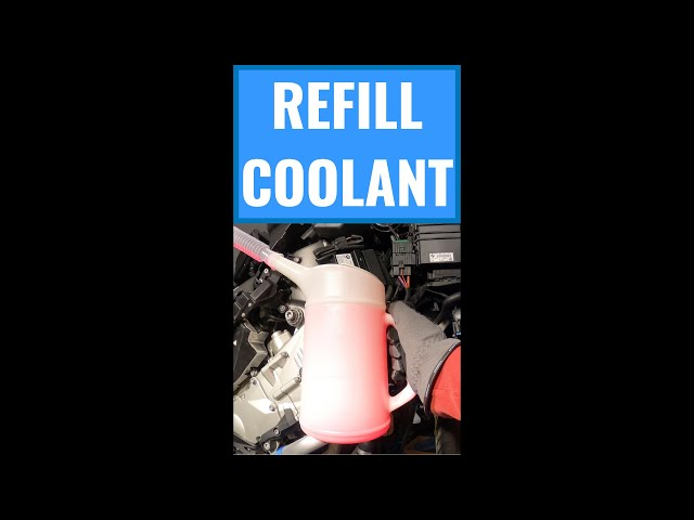 BMW K 1600 GTL Fairings Off Part 3: Refill the Coolant #shorts​