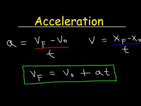 Physics - Acceleration & Velocity - One Dimensional Motion