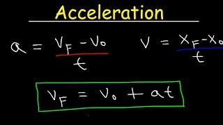 Physics - Acceleration & Vel๐city - One Dimensional Motion