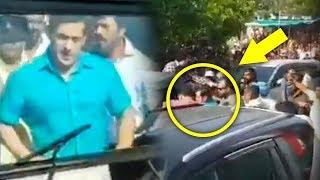 Salman Khan Gets Mobbed By Fans In Phaltan For Dabangg 3 Shooting