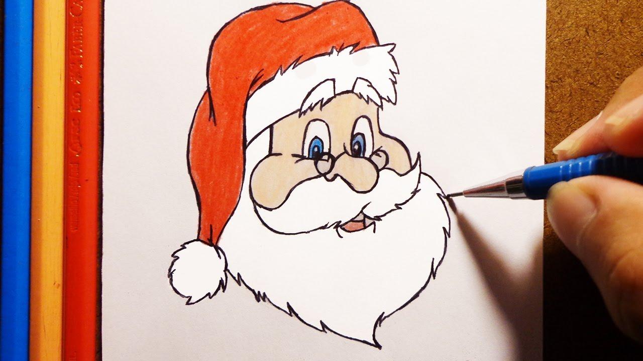 Como Desenhar E Pintar O Papai Noel Youtube
