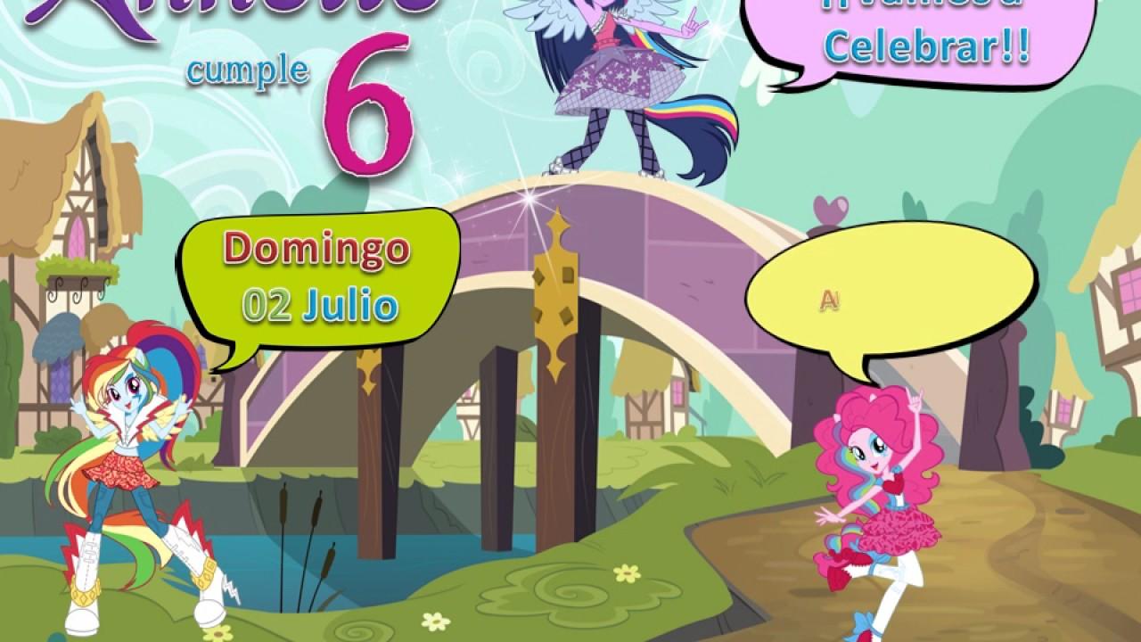 Invitacion Video Equestria O My Little Pony