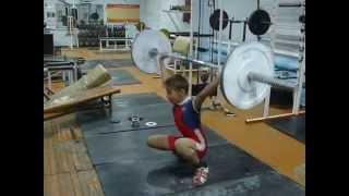 Тяжёлая атлетика Потёмкин Лёша, 13 лет, в/к 38 Рывок 30 кг