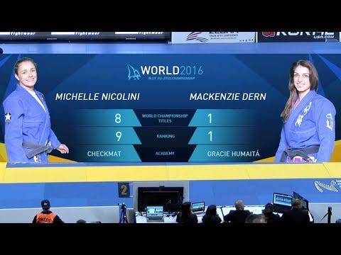 Mackenzie Dern vs Michelle Nicolini / World Championship 2016