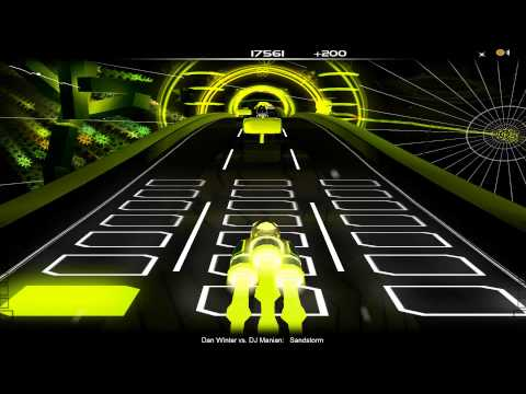 [Audiosurf] DJ Manian Vs. Dan Winter - Sandstorm