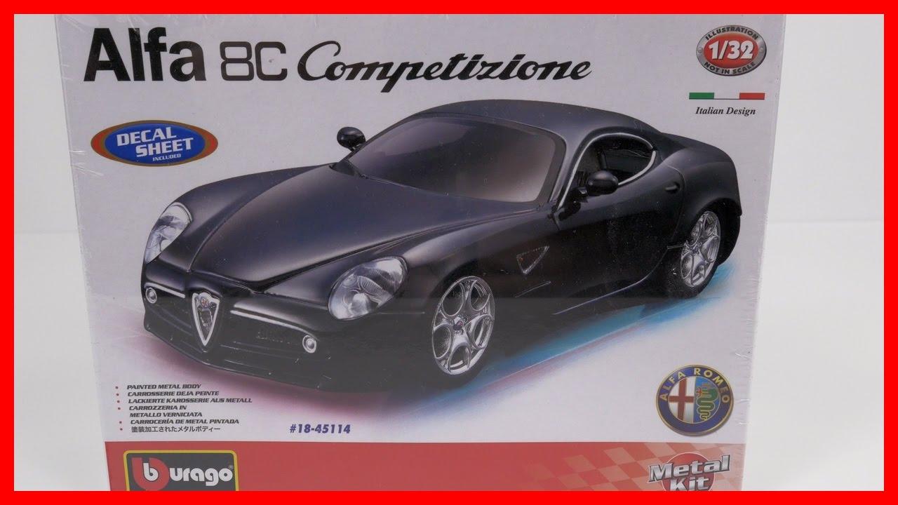 Model Car ALFA ROMEO C Competizione Bburago Italian Toy Car - Alfa romeo model cars