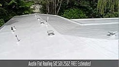 Austin Flat Roofing - 512.501.2552 - Contractors Austin Roof Repair Maintenance Installation