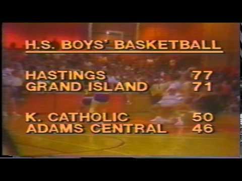 Hastings Boys Basketball highlights 1986