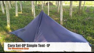 Cara mendirikan Tarp Tent Model  - Simple Tent 1P