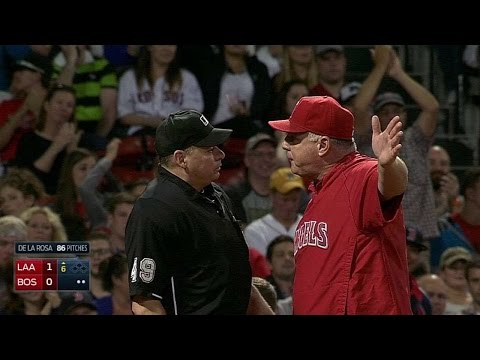 LAA@BOS: Pujols and Scioscia ejected in the 6th
