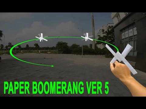 CÁCH LÀM BOOMERANG BẰNG GIẤY VER 5 | how to make paper boomerang | origami boomerang