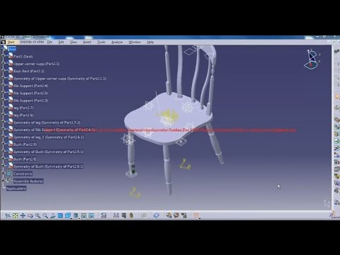 Catia V5 Tutorial|How to design a Chair P18|Furniture & Product Design