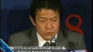 中川昭一泥酔問題 アメリカのテレビでの反応