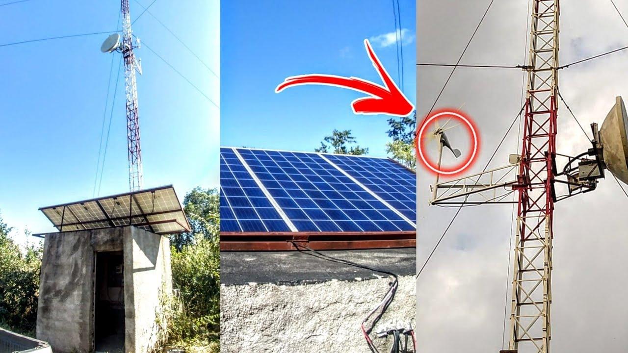 Torre de internet com energia solar e eólica | Guilherme Goku