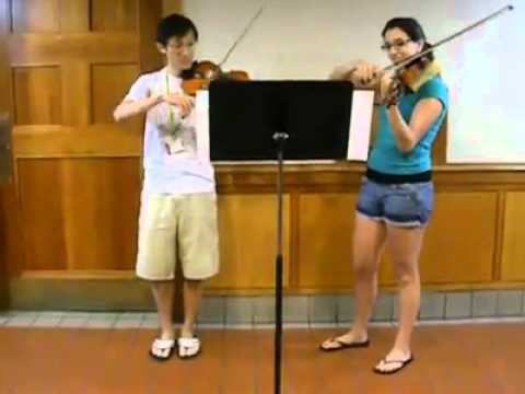 Indiana Jones theme for two violins
