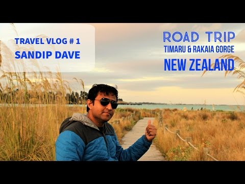 Road Trip in New Zealand   Timaru and Rakaia Gorge   Travel Vlog # 1