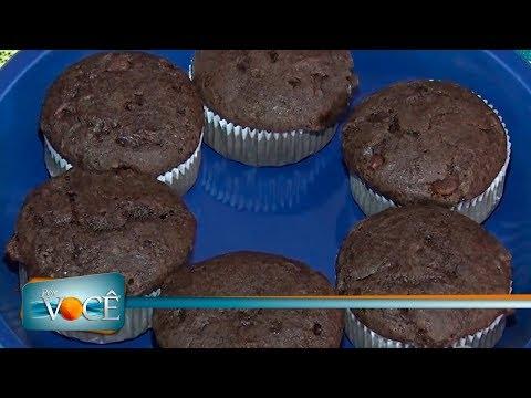 Por Você - Receita Saudável: Muffin de duplo chocolate 17/03/18