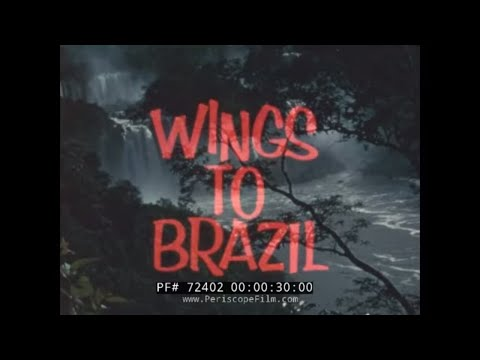 "PAN AM AIRLINES ""WINGS TO BRAZIL "" 1960s TRAVELOGUE 72402"