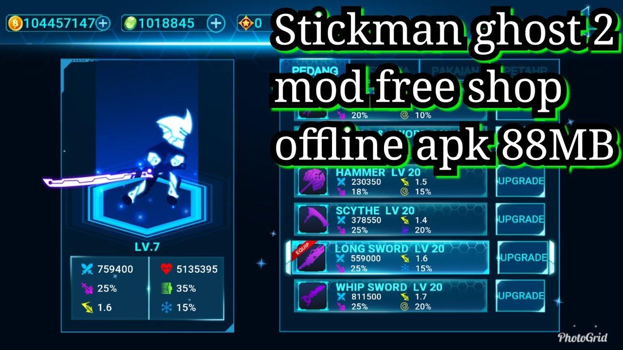 Stickman ghost 2 mod apk (OFFLINE)  #Smartphone #Android