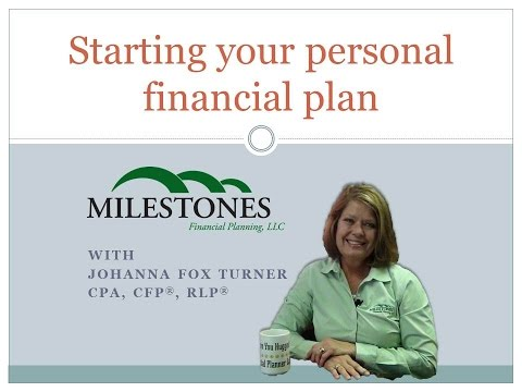Starting your personal financial plan