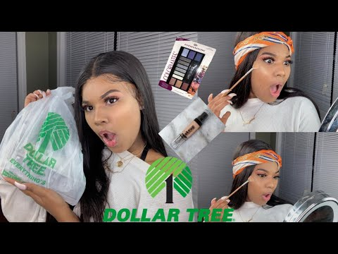 FULL FACE OF DOLLAR TREE MAKEUP ! | OMGGG