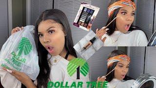 FULL FACE OF DOLLAR TREE MAKEUP ! | OMGGG