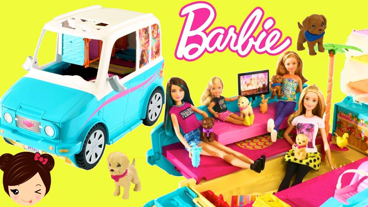 Barbie Coche y Parque de Perritos en Busca de Tesoro  Juguetes de