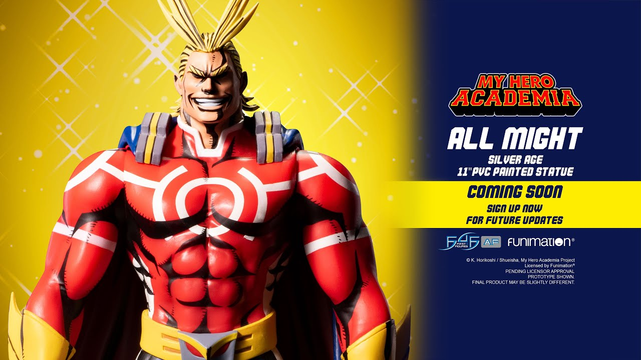 My Hero Academia – All Might: Silver Age PVC Action Figure Coming Soon