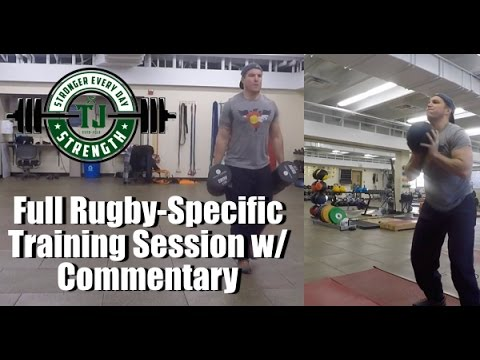 Full Rugby Specific Strength and Conditioning Training Session 1 – Agility and Upper Body