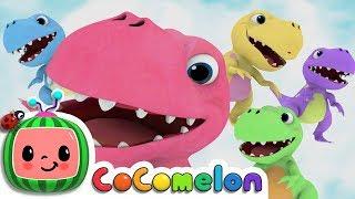 Five Little Dinosaurs   CoComelon Nursery Rhymes & Kids Songs