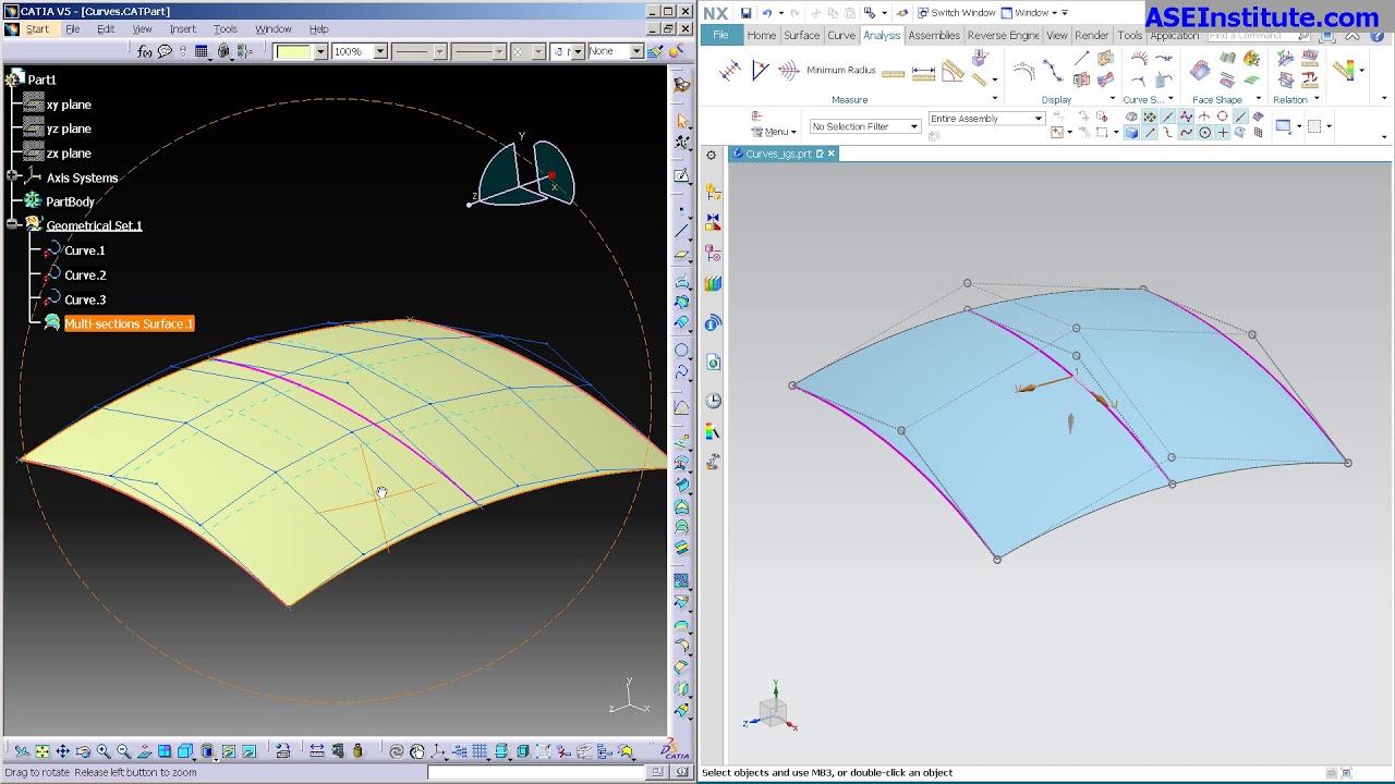 NX 12 vs CATIA V5   Mesh Type Surface Complexity