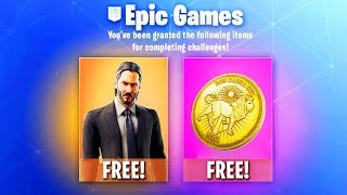 *FREE* John Wick SKIN SET in Fortnite!! (Season 9 FREE SKIN Challenges!)