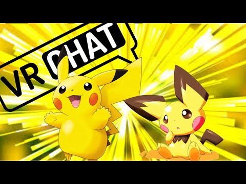 VRCHAT| Voice of pikachu/pichu! (cute and funny moments)