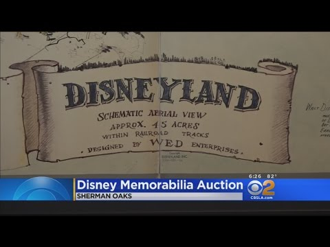 Original Map For Disneyland Fetches Astonishing Price At Auction