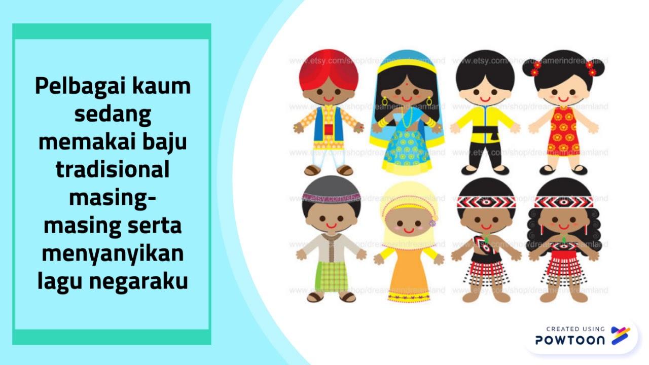 Pakaian Tradisional Malaysia Cartoon