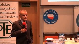 """""""Gospodarka dekady Gierka: rozwój czy wstęp do kryzysu?"""" - Prof. Paweł Bożyk (Wrocław, 10.12.2013)"""