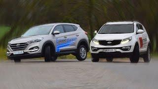 видео Что выбрать Hyundai Tucson 2016 или Kia Sportage 2016? : Carlines.ru