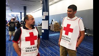 Mexican Volunteers Bringing Food And Supplies To Hurricane Harvey Victims