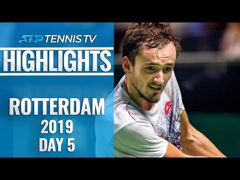 Nishikori Sets Wawrinka Clash; Medvedev Rolls | Rotterdam 2019 Highlights Quarter-Final