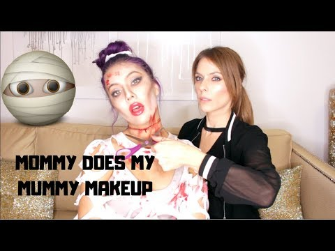 MUMMY HALLOWEEN MAKEUP TUTORIAL BY MY MOM | GET READY WITH ME / ANSWERING YOUR QUESTIONS thumbnail