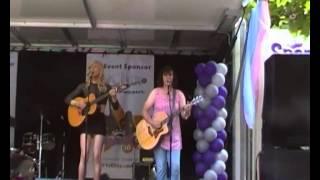 transvestite rock group from dublin ireland at the sparkle festival 11/7/2014 manchester uk