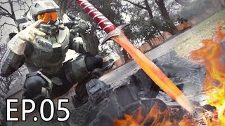 1000 Degree SWORD Vs HALO ARMOR | Living With Chief Ep.05