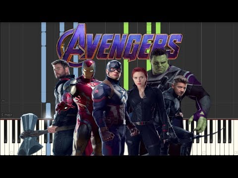 Avengers Endgame Trailer #2 Music [Synthesia Piano Tutorial] thumbnail