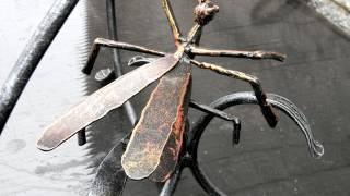 красивая кованая стрекоза из металла ,ковка художественная  изделие образец(, 2016-09-26T12:06:46.000Z)