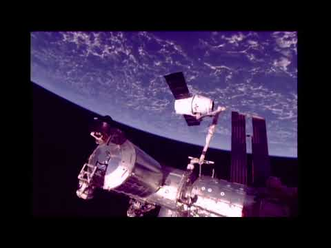 Timelapse of SpaceX Dragon CRS-13 Arriving at Space Station