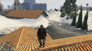 GTA 5 - TSUNAMI WAVES MINGLE WITH THE CITY / GELOMBANG TSUNAMI TENGGELAMKAN KOTA LOS ANGELES
