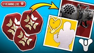 Destiny 2 - The Search For EXOTICS Continue!! (Live Crimson Days Stream Gameplay & Engram Opening)