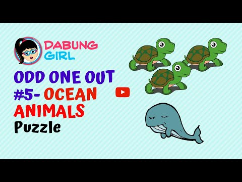 😎 Ocean Animals   Odd One Out Paheliyan   Can you spot the odd one?   Puzzle #5   Dabung Girl